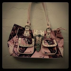 Pink Mossy Oak purse